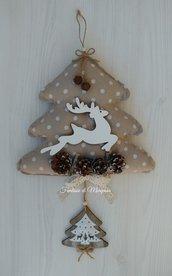 Albero fuoriporta natalizio shabby