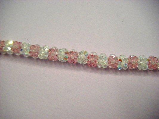 Bracciale bianco e rosa Swarovski