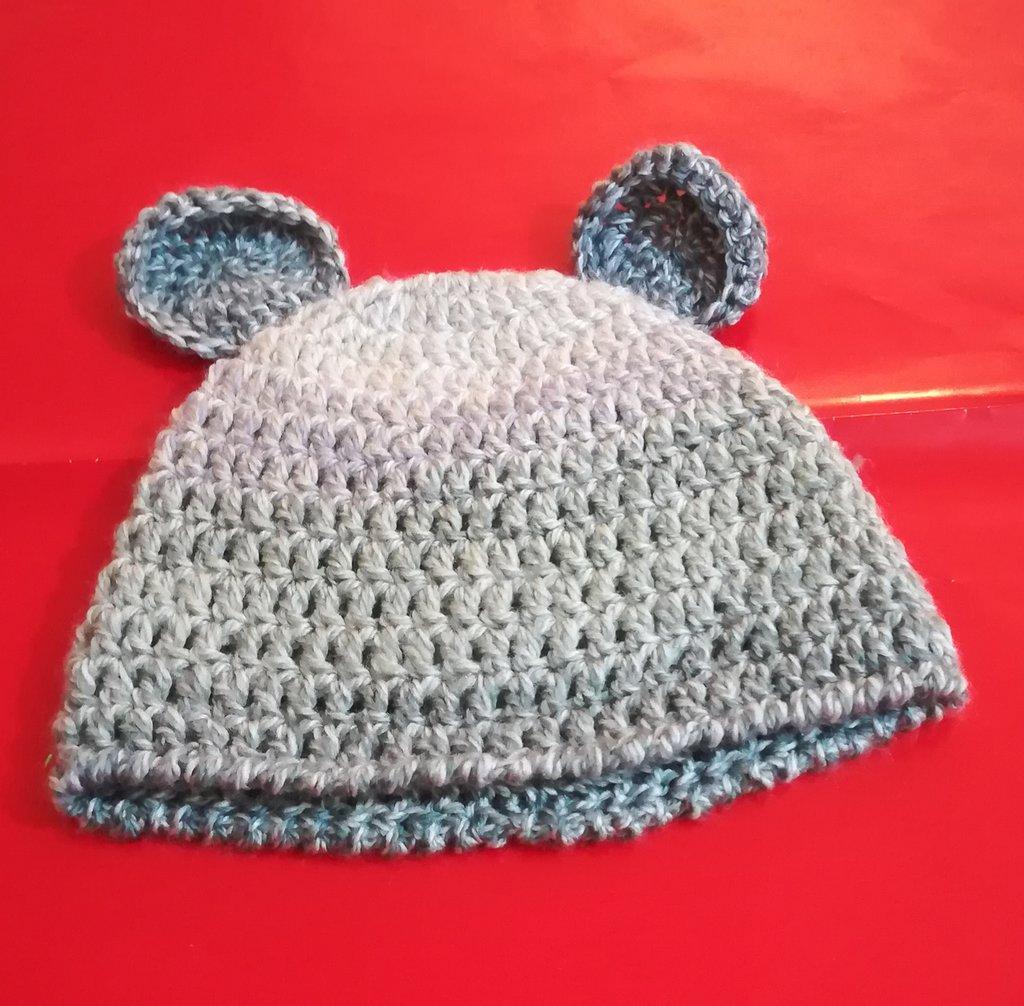 Cappellino   NEONATO  uncinetto lana