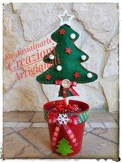 Albero di Natale in Feltro realizzato a mano