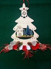 Fuoriporta alberello natalizio
