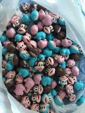 Lotto Scimmie charm 60 pezzi