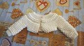 Coprispalle / giacchino neonato.Bianco Taglia 3-6 mesi