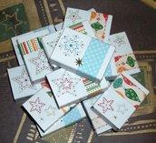 Lotto Scatoline Segnaposto decorate per Regalini di Natale - Glitter Mix^^ - Scrapbooking&Packaging (15pz)