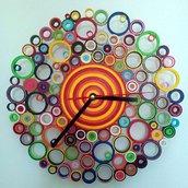 Orologio da parete di carta multicolore
