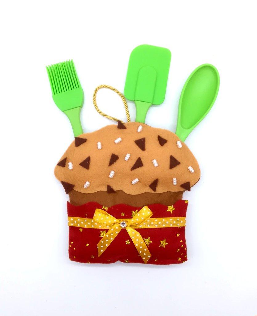 Panettone porta accessori da cucina, 16 x 14 cm, idea regalo!