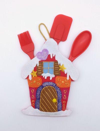 Casetta natalizia porta utensili,  19 x 12 cm, idea regalo!