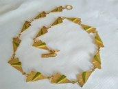 OFFERTA Collana in metallo dorato,vintage anni 70/80 in ottime condizioni
