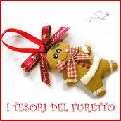"""Addobbo decorazione per albero di Natale """" Gingerbread """"  pandizenEro fimo cernit Kawaii regalo personalizzabile  con  nome"""