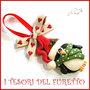 """Addobbo decorazione per albero di Natale """" Pinguino Kawaii  """" segnaposto idea regalo Fimo cernit da appendere personalizzabile  con nome"""