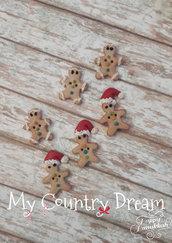 "Bottoni Artigianali ""Gingerbread"""