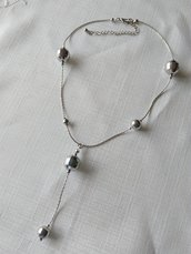 collana in metallo colore argento