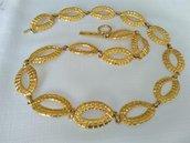 OFFERTA Collana in metallo dorato, vintage anni 70/80 in ottime condizioni