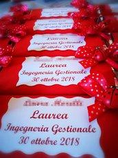Tavolette di cioccolata personalizzate festa laurea rossa coccinella