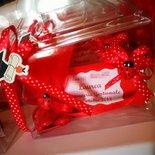 bomboniere laurea scatola pvc con tavoletta cioccolata personalizzata + confetti in tulle + tocco laurea legno