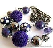 """Collana """"violet boule"""""""