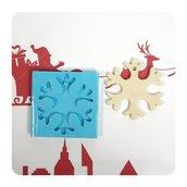 Stampo silicone artigianale fiocco di neve, stampo per decorazioni appendibili, stampo Natale, Inverno, stampo in silicone per resina o gesso