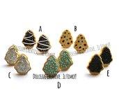 NATALE IN DOLCEZZE - MODELLO A Orecchini a perno - cookie, biscotti a forma di albero di natale glassati con codette