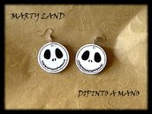 halloween ORECCHINI DIPINTI A MANO JACK Hand painted earrings