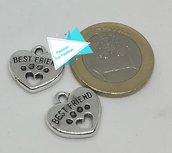 Ciondolo argento tibetano Best Friend PFF006
