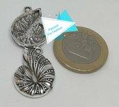 Ciondolo argento tibetano ammonite PFF007