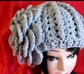 Berretto di lana capello uncinetto