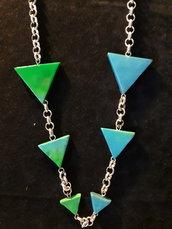 Collana lunga triangoli
