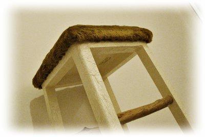 Sgabello con legni di mare per la casa e per te arredamento