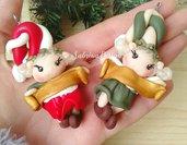 Elfo di Natale, elfo per albero, palline Natale, albero Natale, decorazioni Natale, calendario avvento, elfi fimo