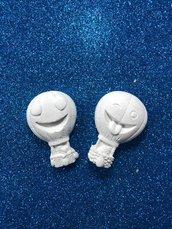 Mongolfiera smile in gesso ceramico profumato per il fai da te
