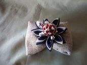 sacchetto artigianale in conopone  con fiore