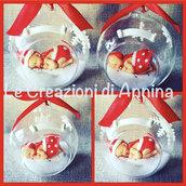 Palline di Natale con bebè in porcellana fredda
