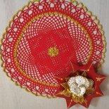 centro rosso natalizio