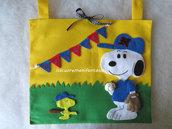 Portapigiamino Snoopy in pannolenci
