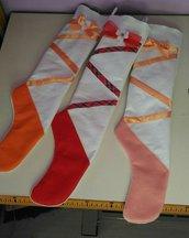 calza della befana in pannolenci per piccole ballerine personalizzabile con nome