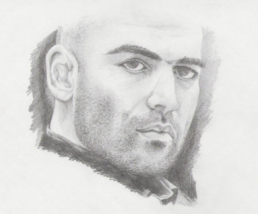 Ritratto a matita di Roberto Saviano