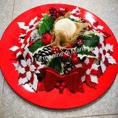 Centrotavola natalizio rosso