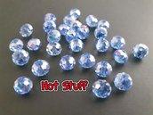 40 Rondelle di cristallo sfaccettato - Azzurro AB (6x4mm)
