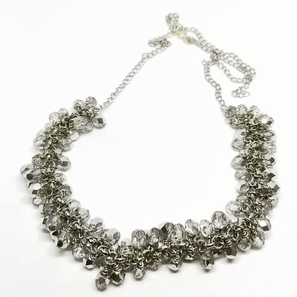 Collana grappolo - Silver