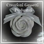 Gessetti segnaposto/bomboniera a forma di rosa