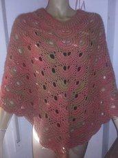 Poncho donna uncinetto,coprispalle  mantella maglia