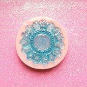 Stampo in gomma siliconica Base Cameo Tondo Stars