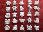 SPEDIZIONE GRATUITA!! Gessetti Gessi Natalizi  profumati formine di Natale (25 MODELLI DIVERSI) Segnaposto Chiudipacco Bomboniera, Stella di Natale,  Pupazzo di Neve Calendario dell' Avvento