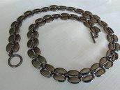 OFFERTA!!! Collana in metallo brunito,  vintage anni 70 /80