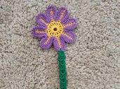 Segnalibro a fiore uncinetto