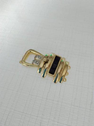 chiusura fermaglio per collana, bracciale 3 fili e strass