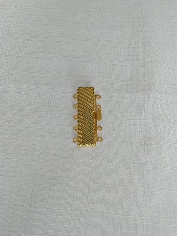 chiusura fermaglio per collana, bracciale,a 5 fili in metallo