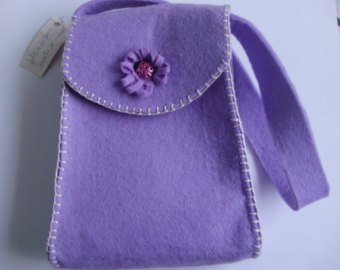 Borsa feltro di lana, fatta a mano, cucita a mano, comoda e confortevole, moda e tendenze, modello unico