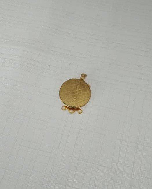 chiusura fermaglio per collana, bracciale, a 3 fili in metallo dorato