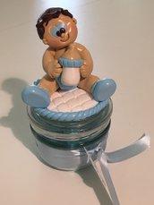 Barattolini tema bimbo nascita-battesimo-regalo